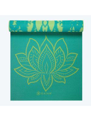 Gaiam Turquoise Lotus Reversible jogas paklājs
