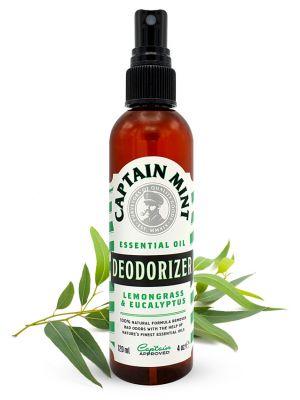 Captain Mint Essential Oil Deodorizer tīrīšanas līdzeklis - eikalipts un citronzāle