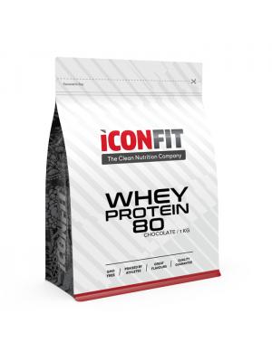Iconfit Whey Protein 80 1kg Šokolādes ar STĒVIJU