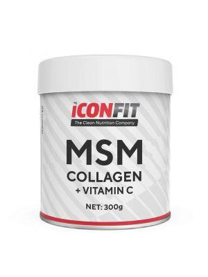 Iconfit MSM Collagen + C vitamīns 300g Bezgaršas