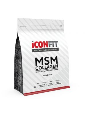 Iconfit MSM Collagen + C vitamīns 800g Apelsīns