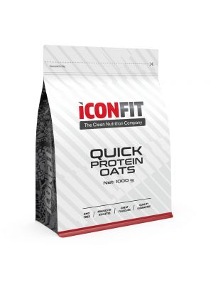 Iconfit Quick Protein Oats putra 1kg Ābolu-kanēļa