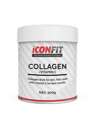 Iconfit Collagen + Vitamin C - āda, nagi, mati, 300g Dzērveņu