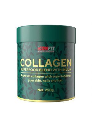 Iconfit Collagen Superfoods + Inulin 250g Ērkšķogu-upeņu