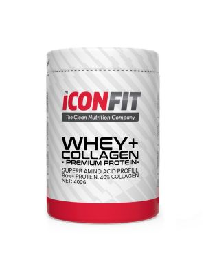 Iconfit WHEY+ Collagen - Premium Protein - - Zemeņu 1kg